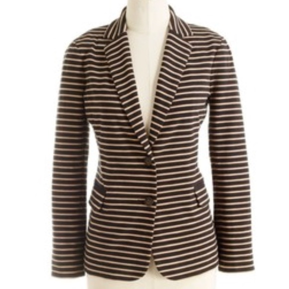 J. Crew Jackets & Blazers - J.Crew Maritime Blazer in Black and Tan